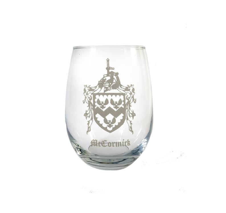 Custom laser engraved stemless wine glasses