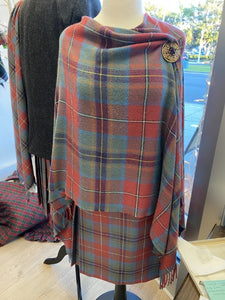 Guardian of Scotland weathered tartan ruana.  Scottish Treasures Celtic Corner