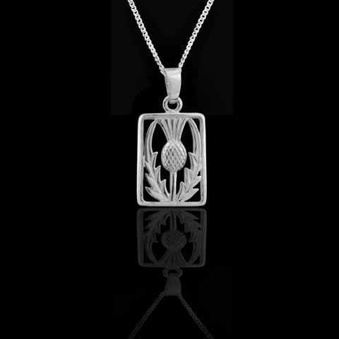 Scottish Thistle Pendant Rectangle