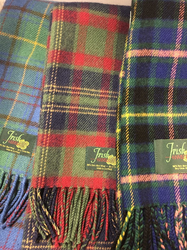 Irish County Lambswool Scarves - Celtic Corner / Scottish Treasures