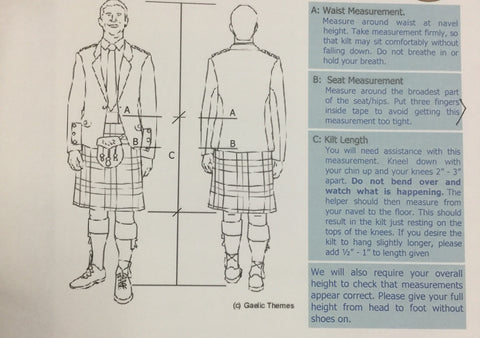 Scottish Made 8 Yard Kilt (16oz select tartan)