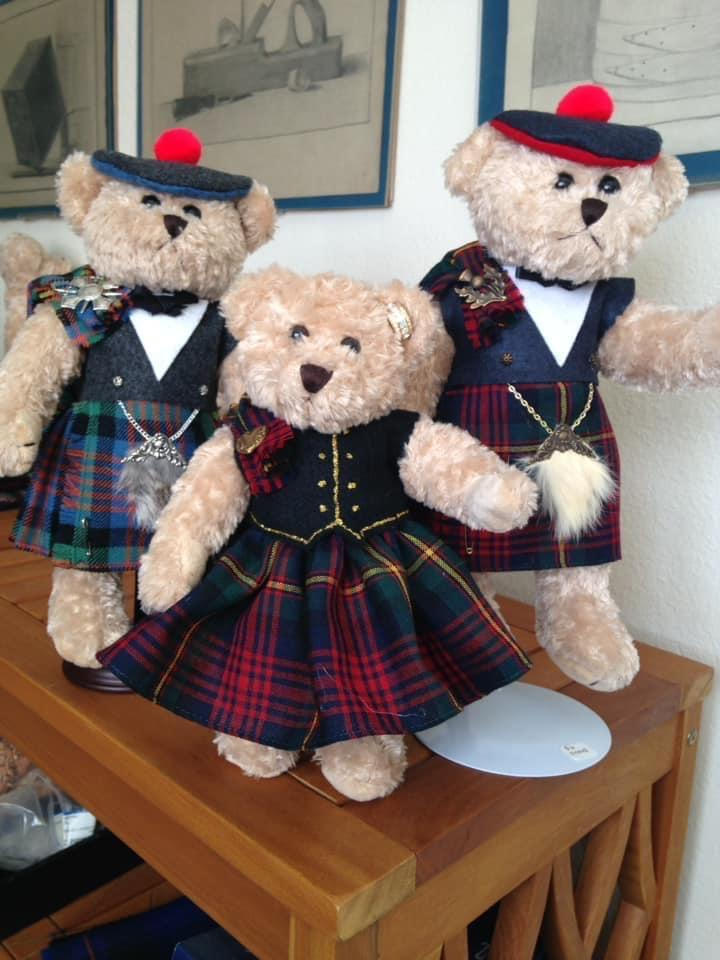 Loganbeary bears dressed in Logan tartan