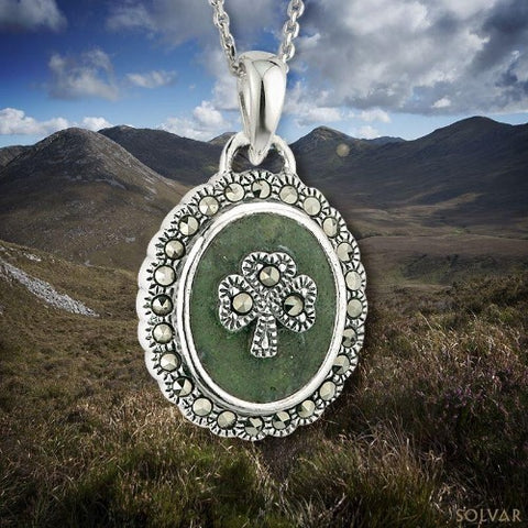 Claddagh Circle Pendant with CZ