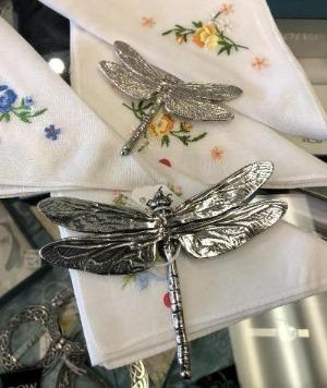 Dragonfly Scarf Ring - Brooch - Celtic Corner / Scottish Treasures