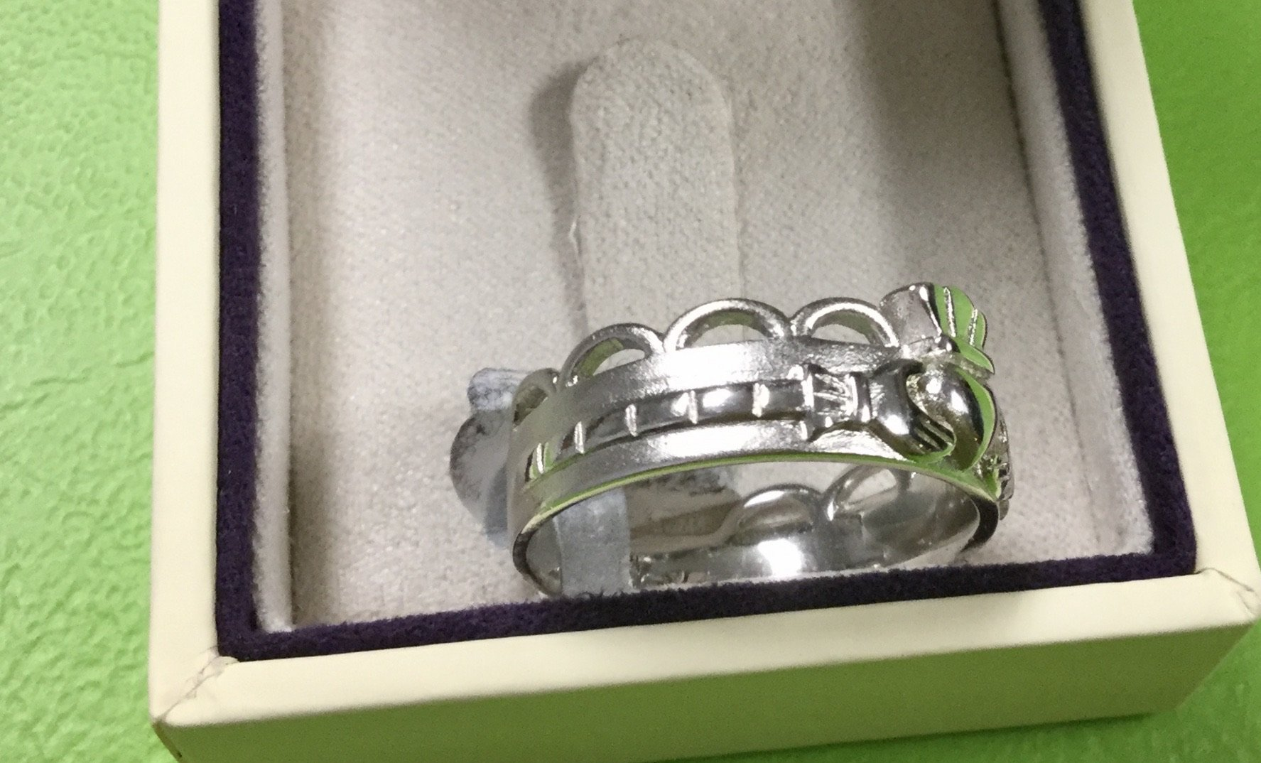 Claddagh Crown Sterling Silver Band (special buy) - Celtic Corner / Scottish Treasures