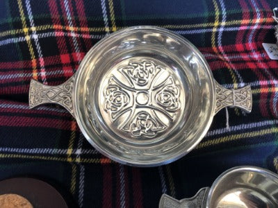 Celtic Cross Quaich - Celtic Corner / Scottish Treasures