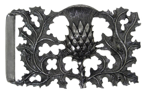 Thistle Pewter Buckle