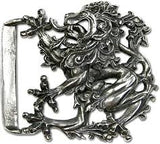 Baroque Lion Kilt Buckle, pewter