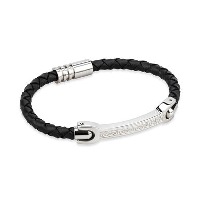 Men's Celtic Leather Bracelet