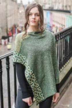 ballatar moss colored poncho