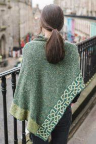 back view of moss ballatar poncho