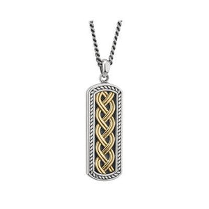 Gent's Silver and Two-Tone Celtic Ingot Pendant - Celtic Corner / Scottish Treasures