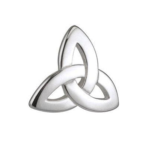 Trinity Knot Silver Tie Tack - Celtic Corner / Scottish Treasures