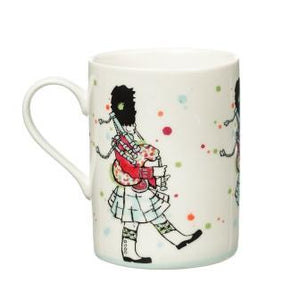 Scottish bagpiper on this whimsical coffee or tea mug.  Scottish Treasures Celtic Corner