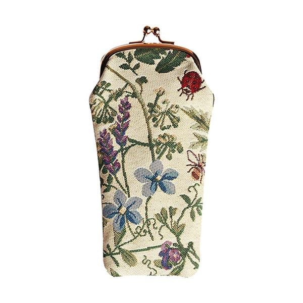 Wild flower adorn this tapestry eye glass case.  Scottish Treasures Celtic Corner