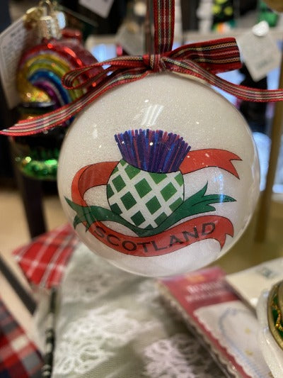 thistle Christmas ornament