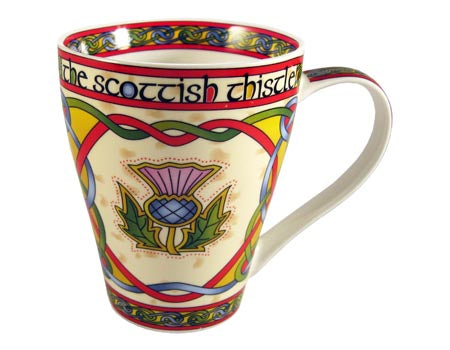 Scottish Thistle bone china coffee or tea mug.