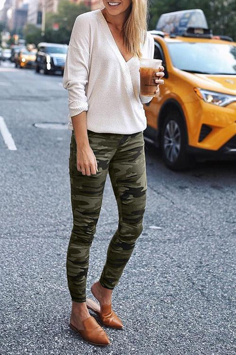 Ceridress Cozy Sportswear Army Green Leggings