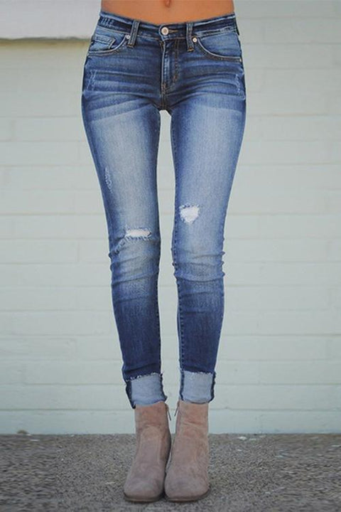 Ceridress High Waist Worn Out Jeans
