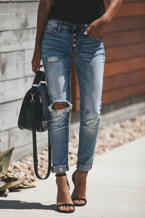 Ceridress  Liv Ripped Denim Jeans