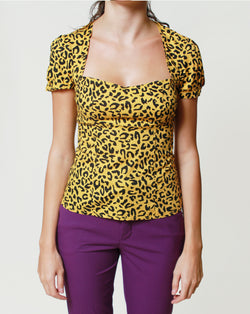 Pin-Up Cheeta Top