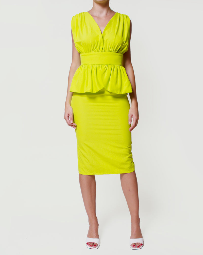 Neon Cocktail Dress