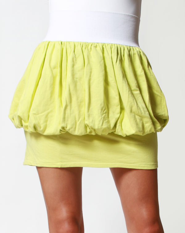 apple green balloon skirt