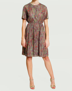Printed Lace Dress