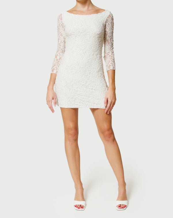 LACE ELASTIC DRESS