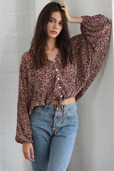 Mabel Animal Print Top