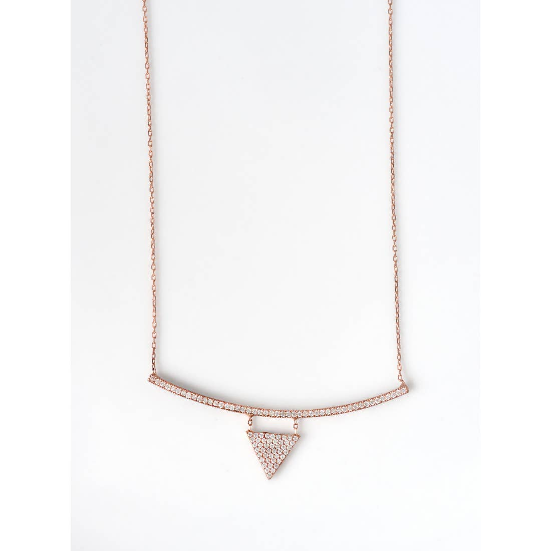 Long Bar Triangle Necklace