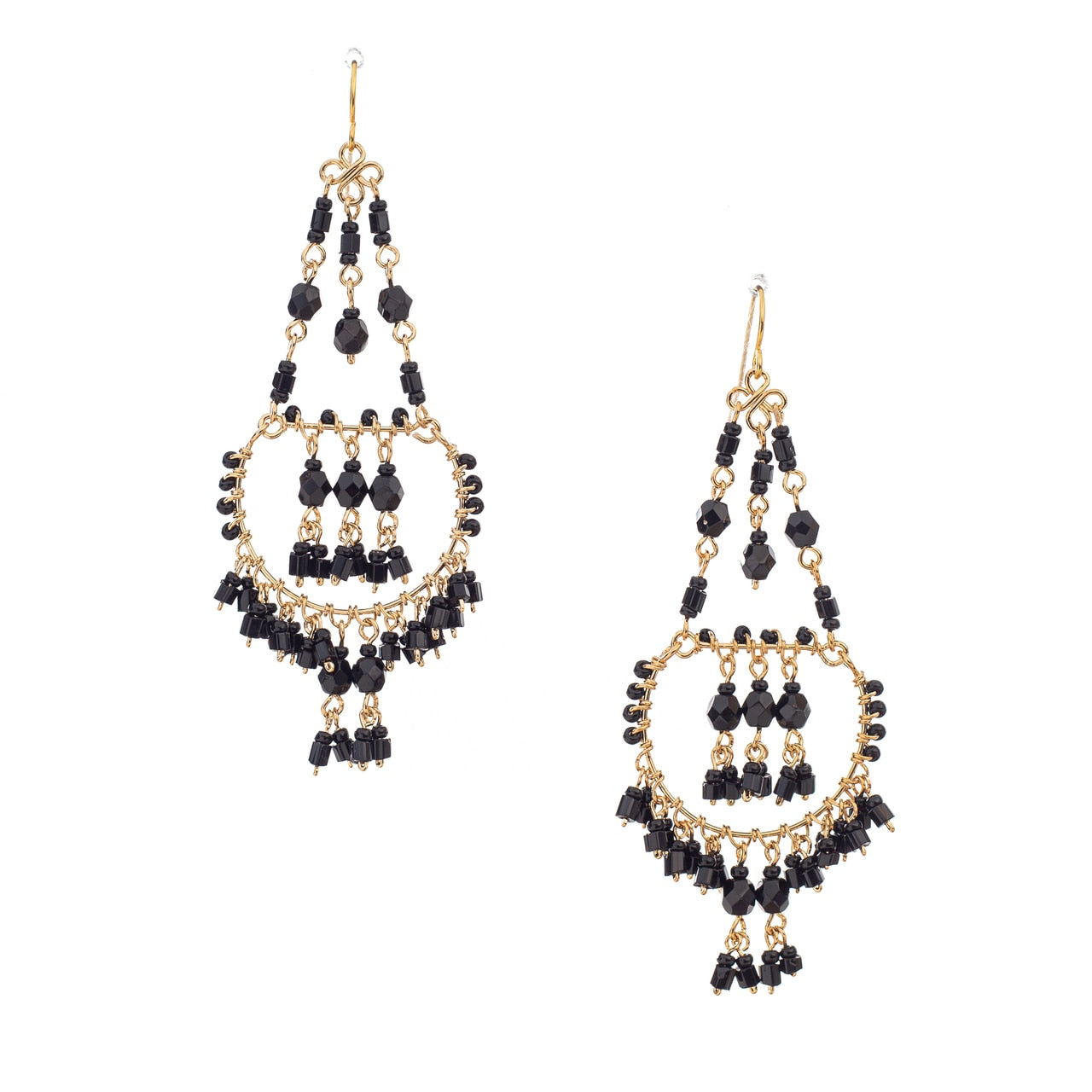 Black Chandy Earrings