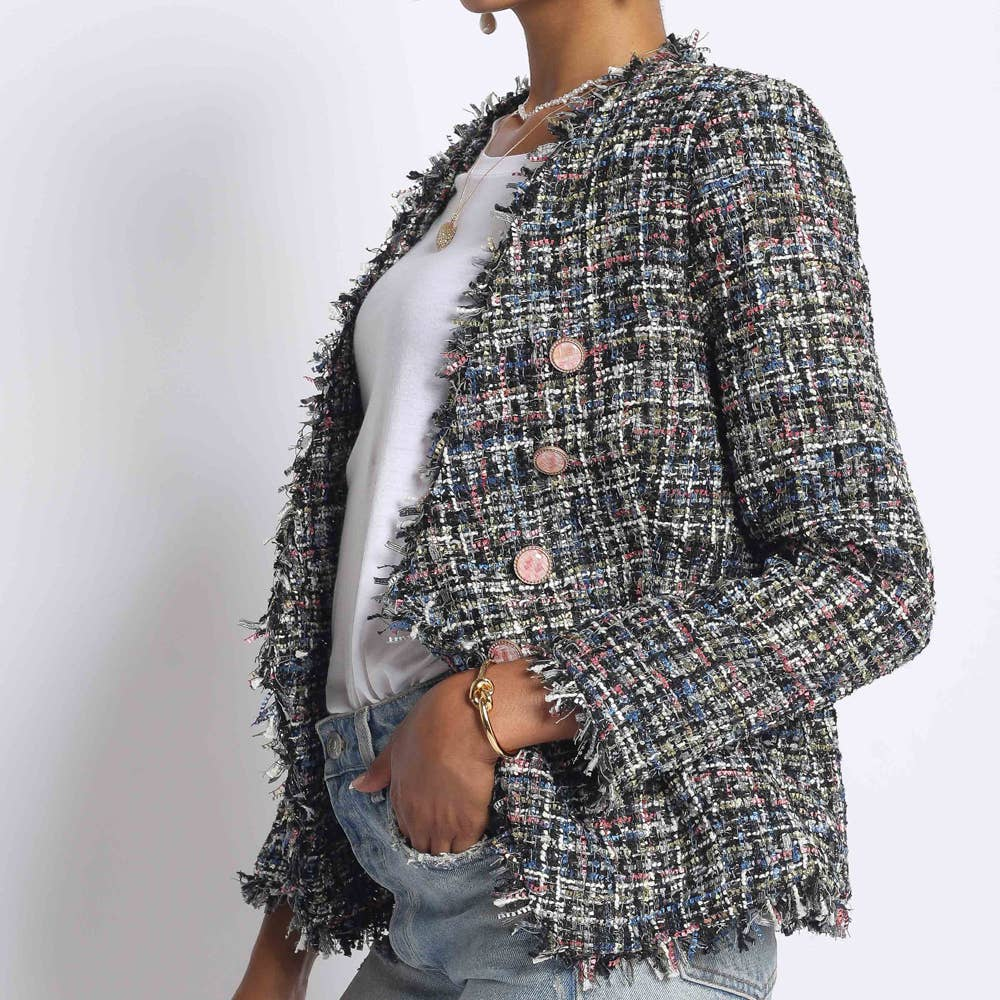 Metallic Boucle Jacket