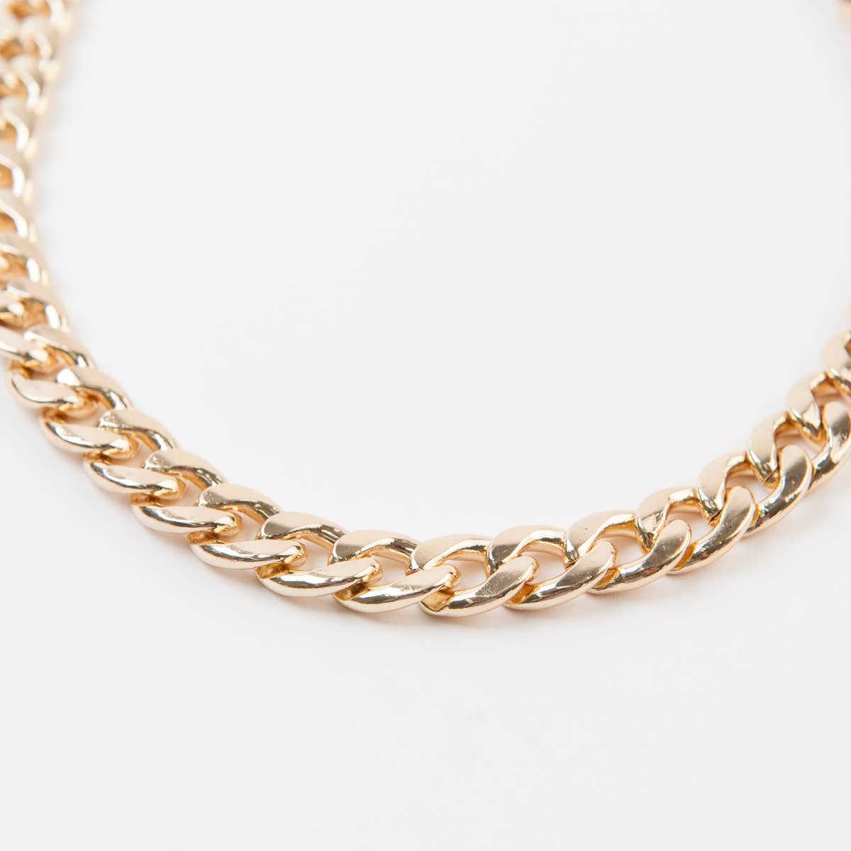 Braided Gold Chain Belt