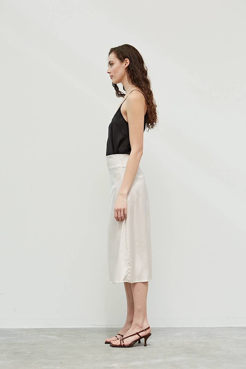 Dreamy Satin Midi Skirt