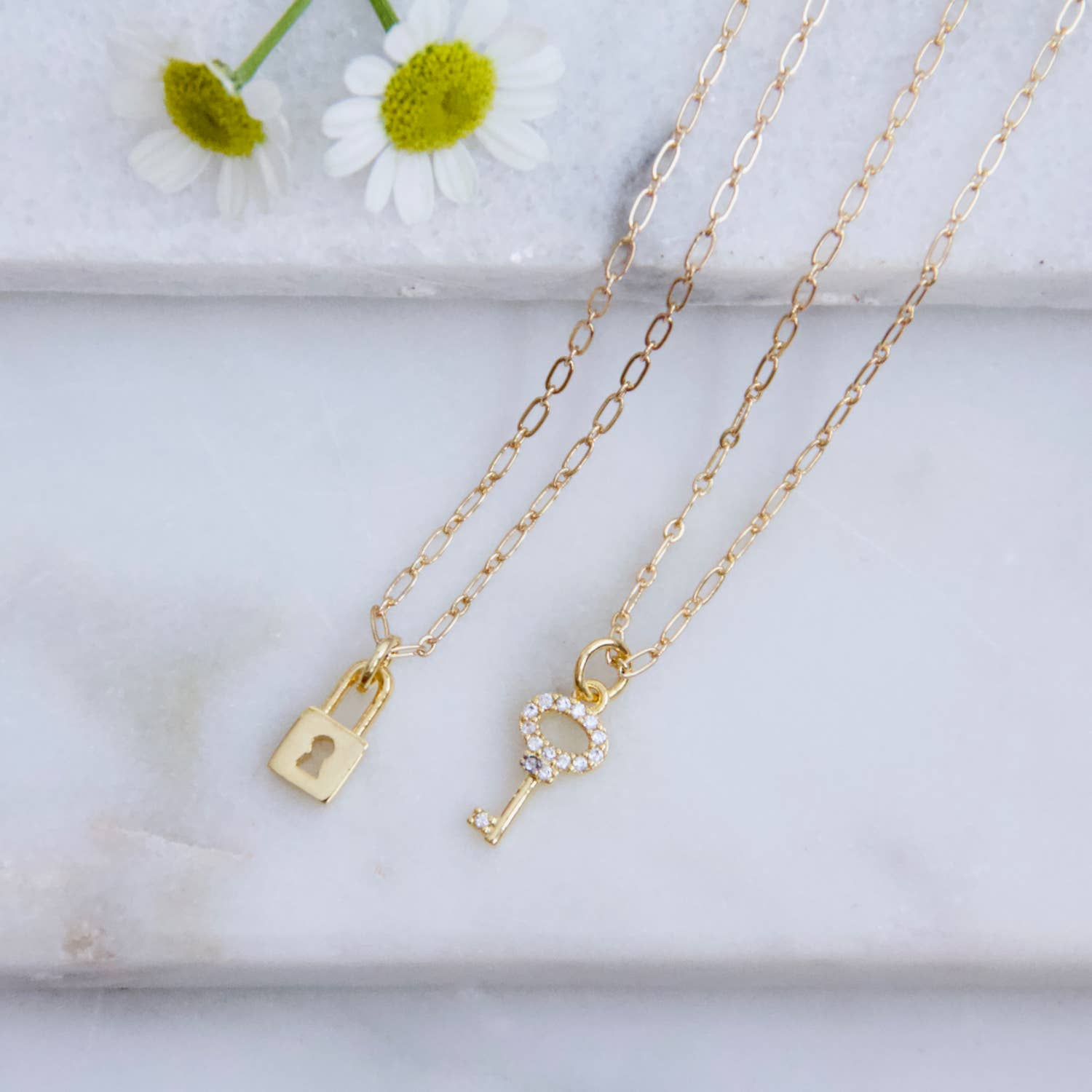 Lock + Key Friendship Necklace