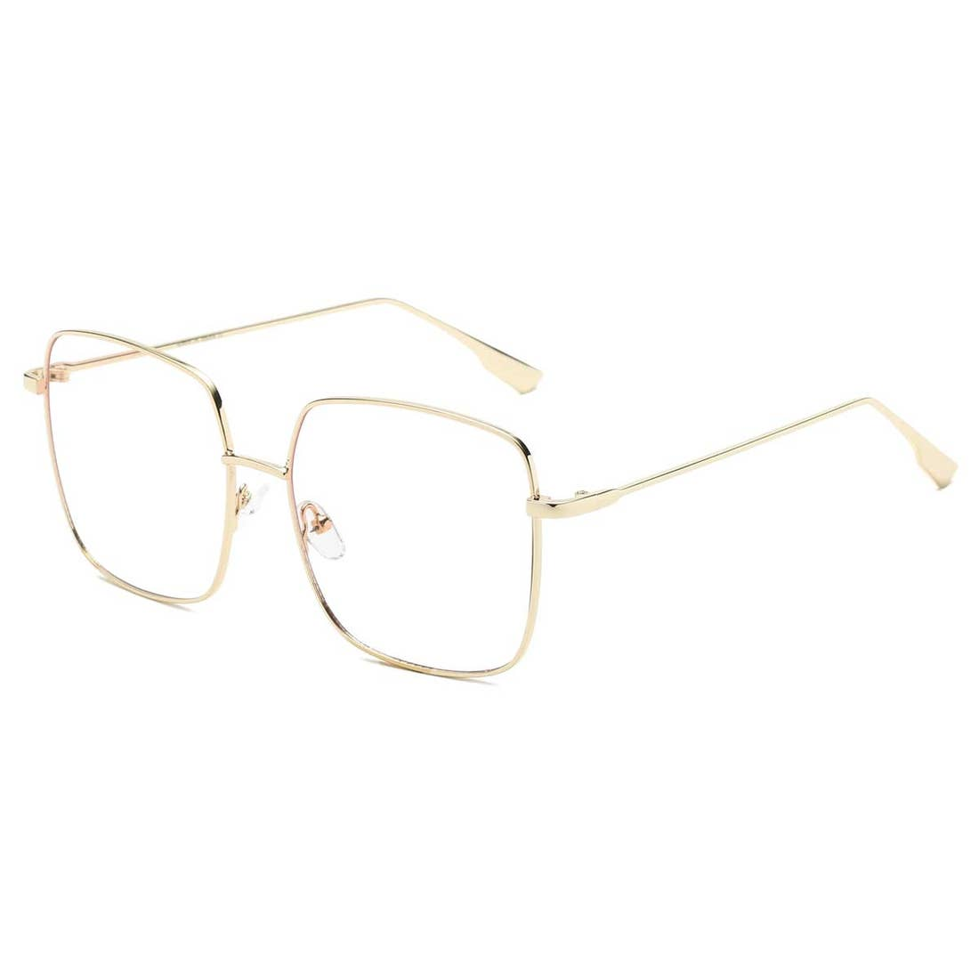 All Business Gold Wire Frame Blue Light Glasses