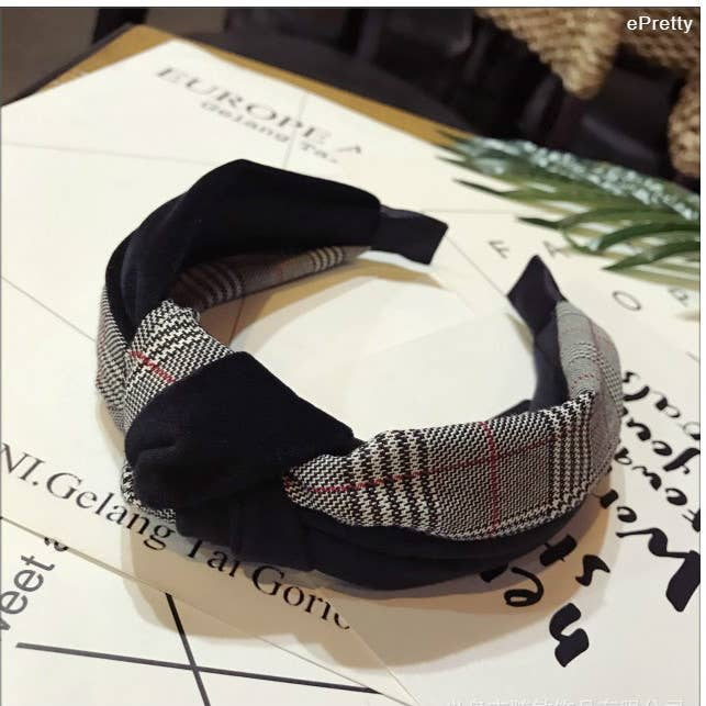 Plaid and Velvet Headbands