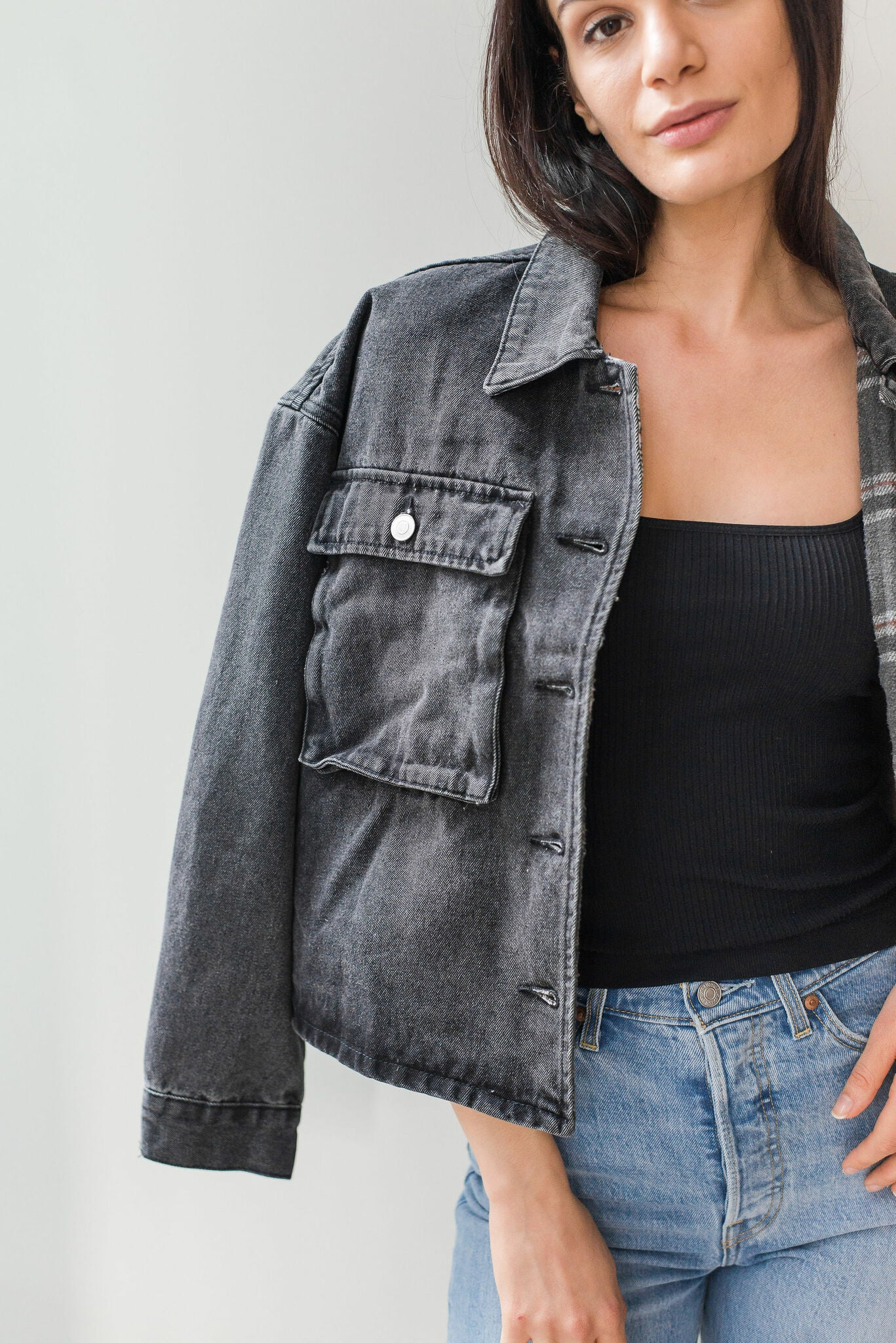 Amelia Vintage Washed Denim Jacket