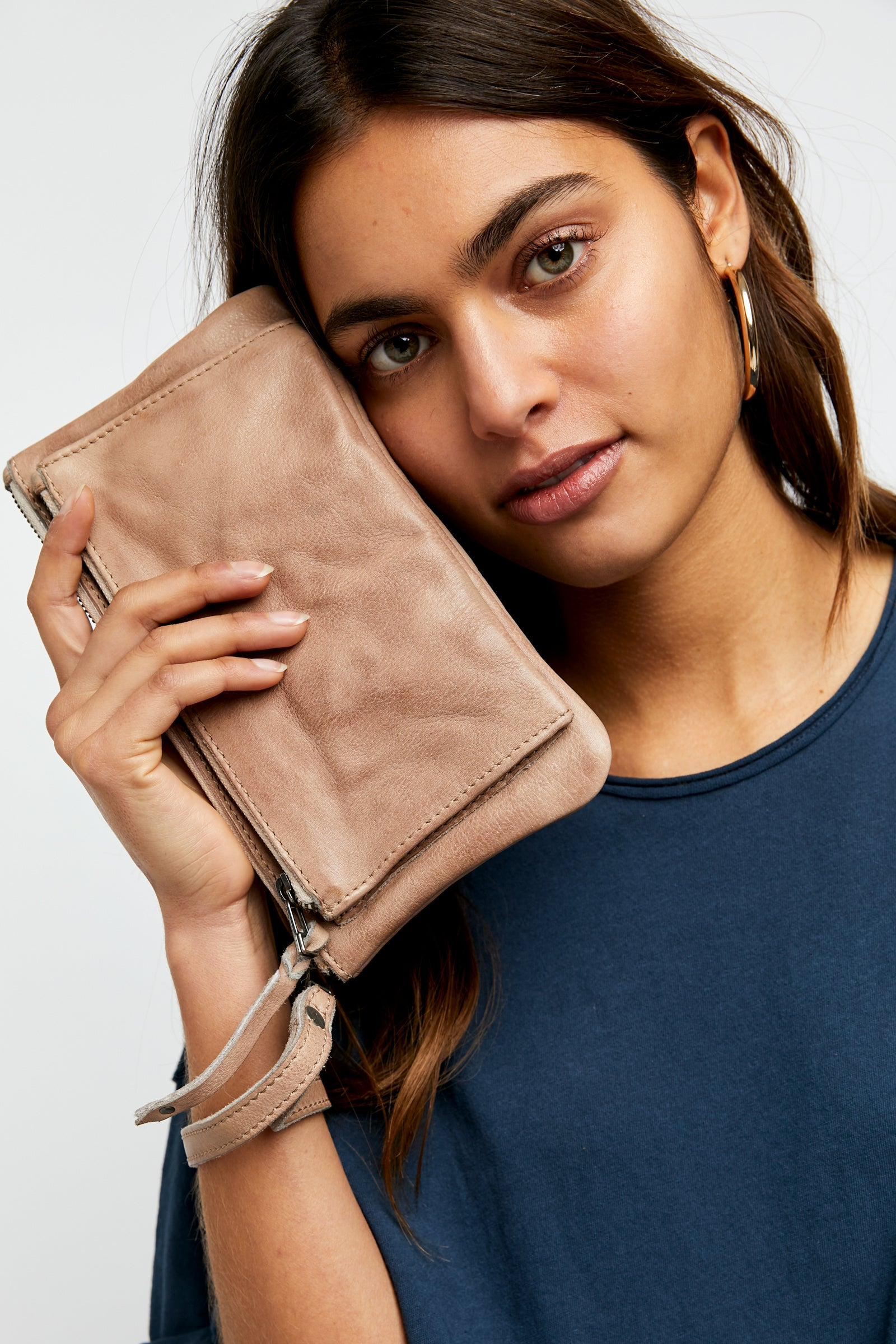 Free People Lola Leather Pouch