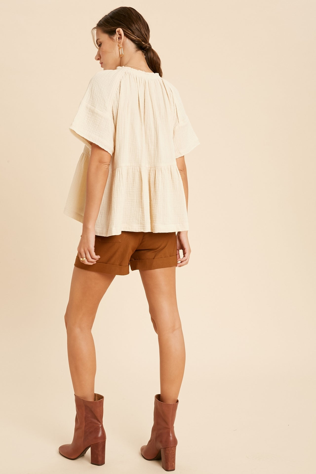 Natural Pilgrim Gauze Top