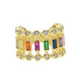 Rainbow Stacked Ring