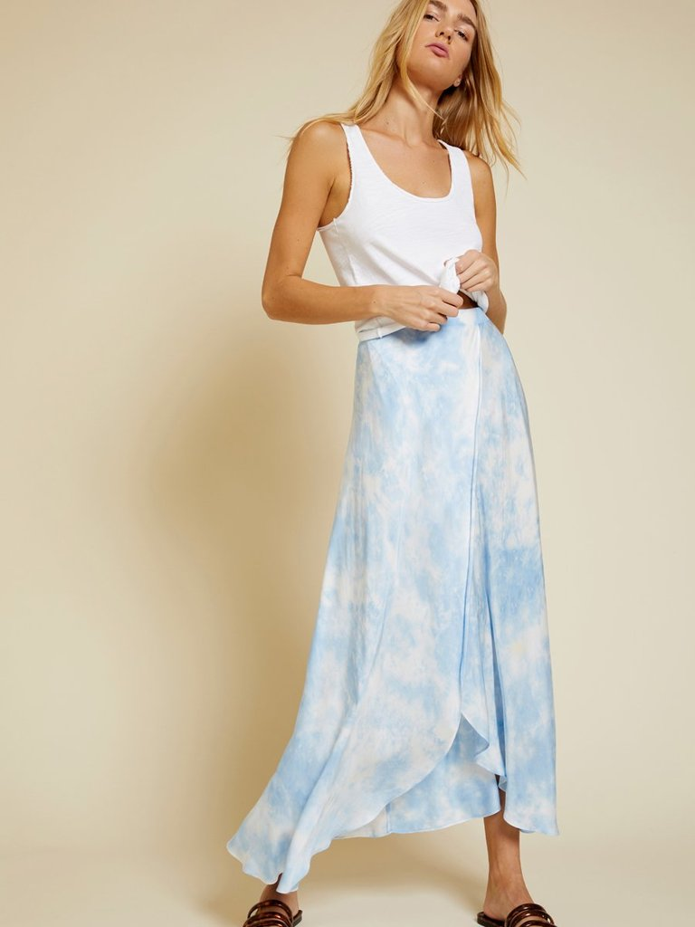 Giorgia Wrap Skirt- Blue Skies