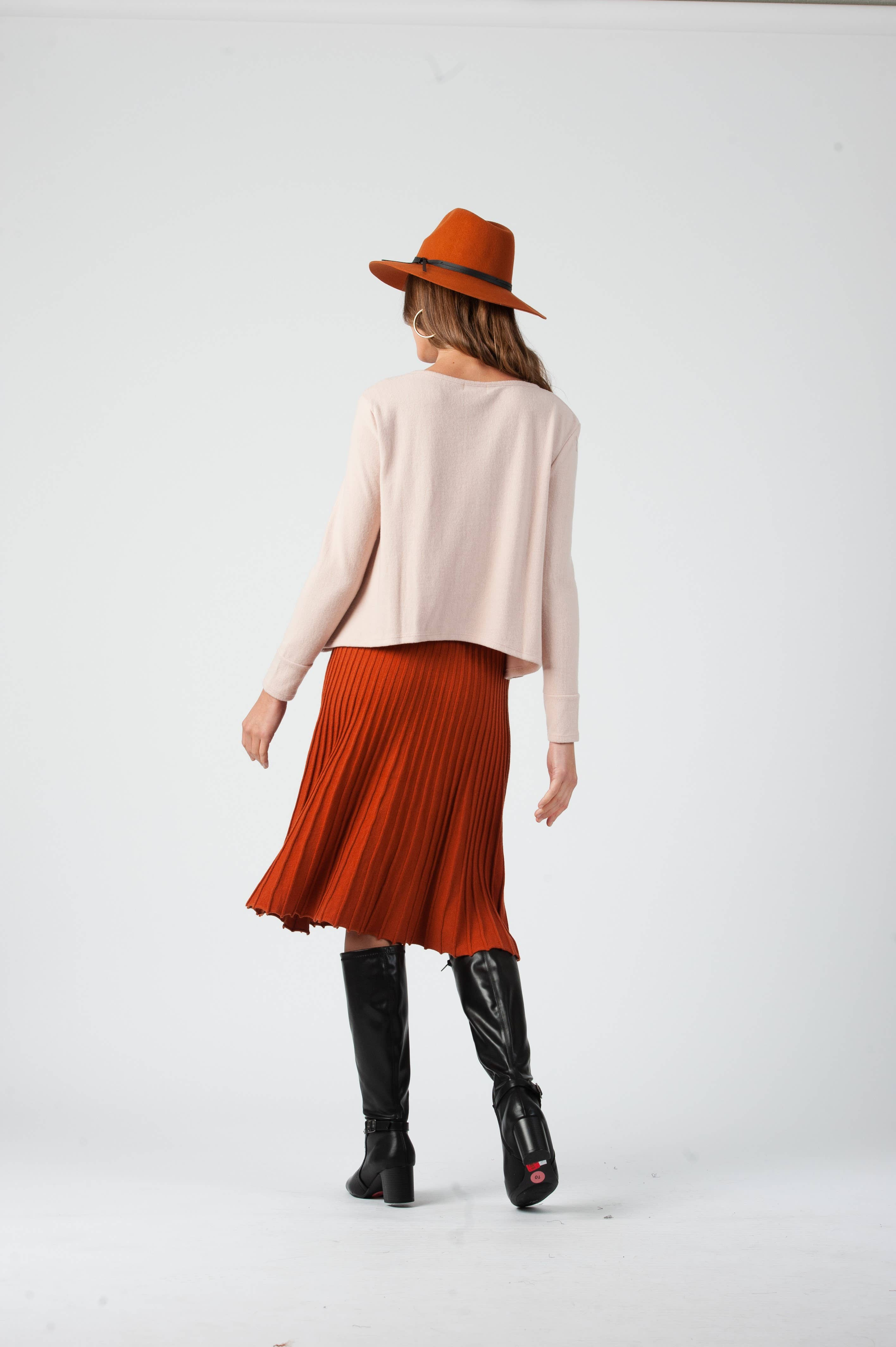 Vee Sweater Midi Skirt