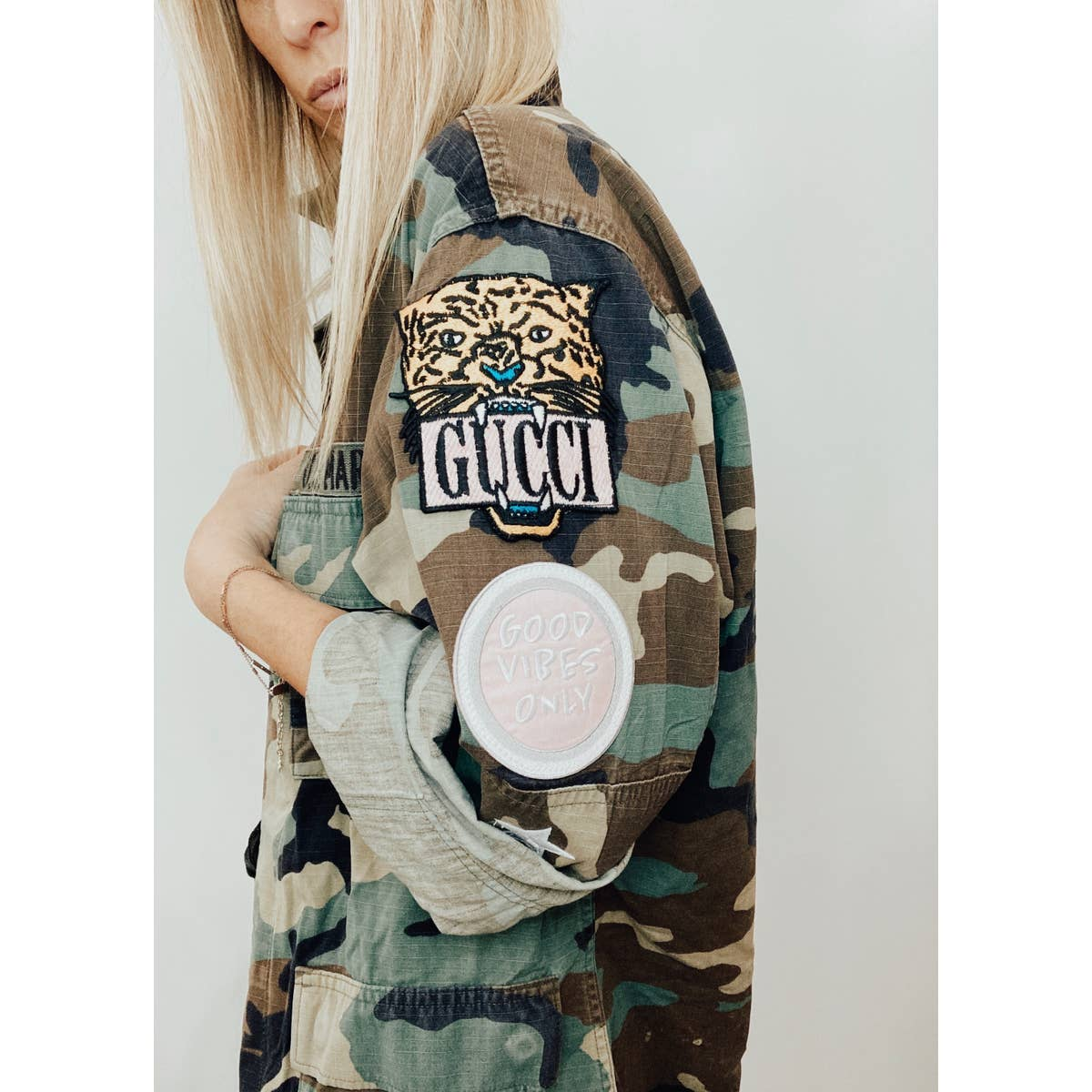 Vintage G-Thang Kitten Club Army Jacket