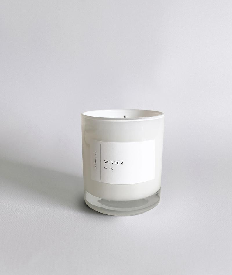Winter White Tumbler Candle