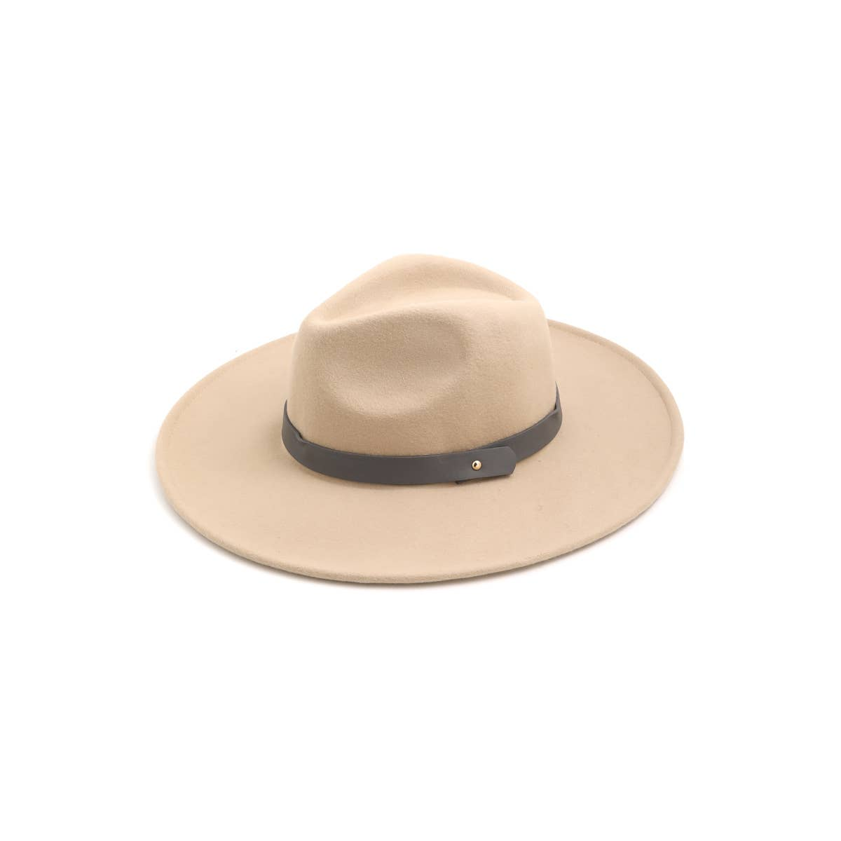 Wool Fedora with trim