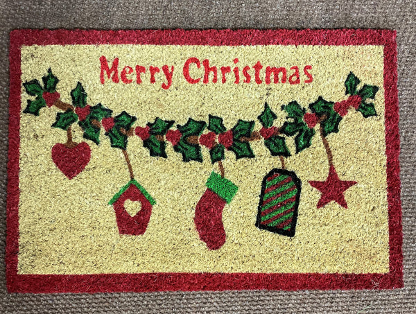 XMAS MAT STOCKING DESIGN