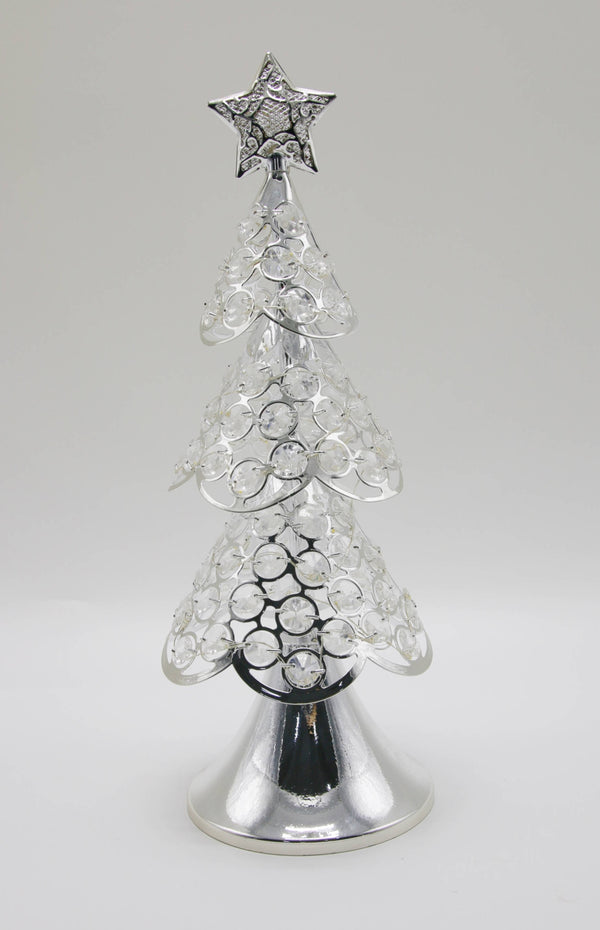 SILVER GLASS TREE