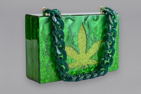 Casa Carta MJ Leaf Clutch